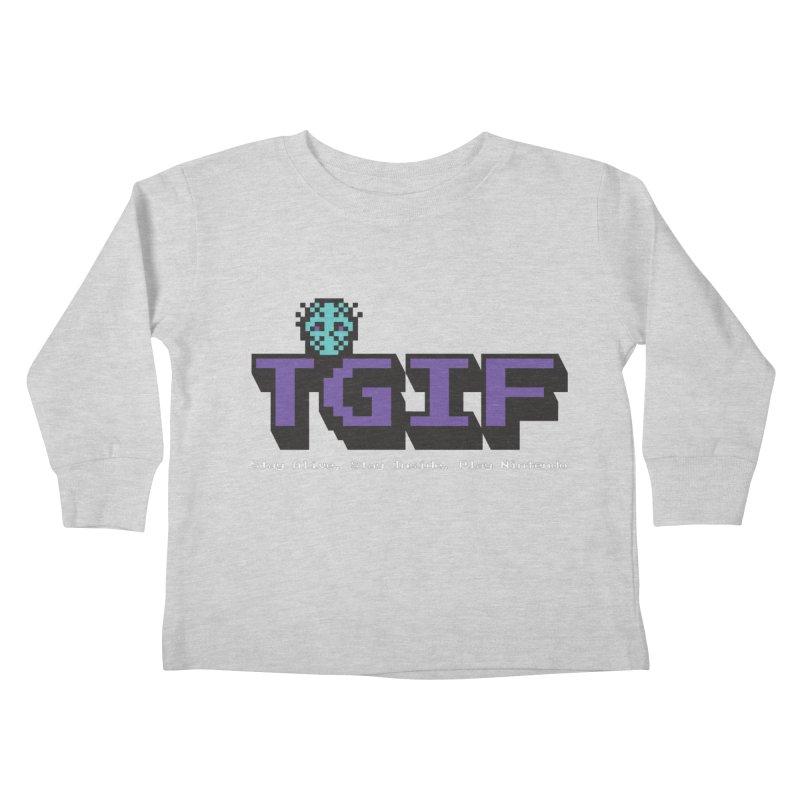TGIF-Stay Inside, Stay Alive Kids Toddler Longsleeve T-Shirt by Mike Hampton's T-Shirt Shop