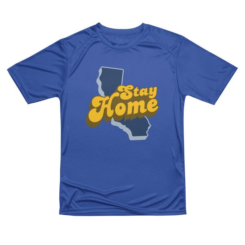 Stay Home, California Men's Performance T-Shirt by Mike Hampton's T-Shirt Shop