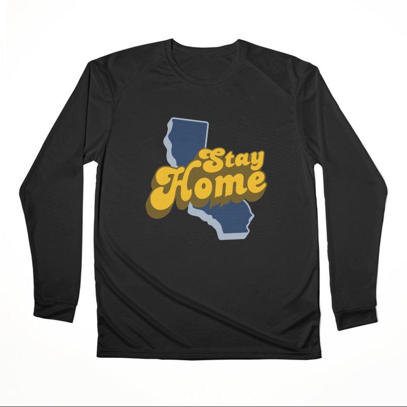 Stay Home, California Men's Performance Longsleeve T-Shirt by Mike Hampton's T-Shirt Shop