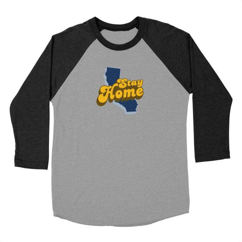 Stay Home, California Women's Baseball Triblend Longsleeve T-Shirt by Mike Hampton's T-Shirt Shop
