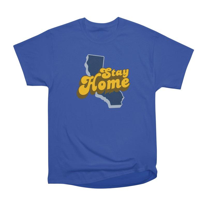 Stay Home, California Men's Heavyweight T-Shirt by Mike Hampton's T-Shirt Shop