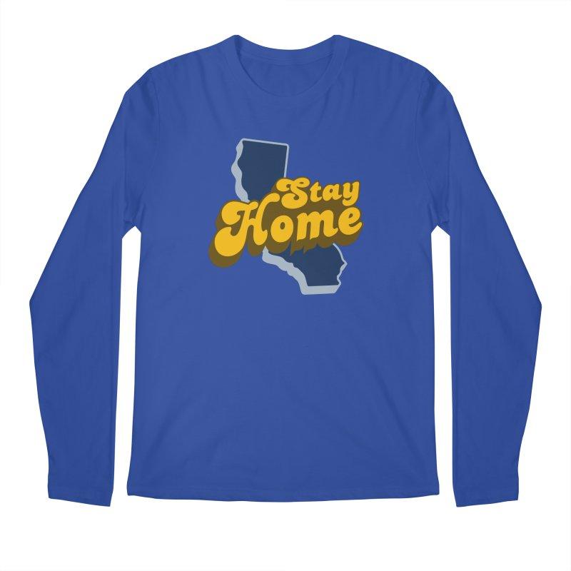 Stay Home, California Men's Regular Longsleeve T-Shirt by Mike Hampton's T-Shirt Shop