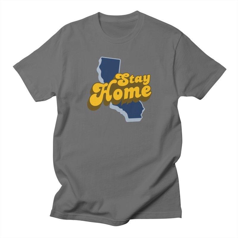 Stay Home, California Men's T-Shirt by Mike Hampton's T-Shirt Shop