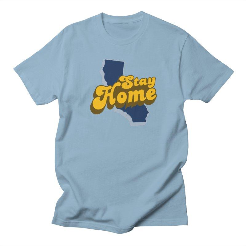 Stay Home, California Men's Regular T-Shirt by Mike Hampton's T-Shirt Shop