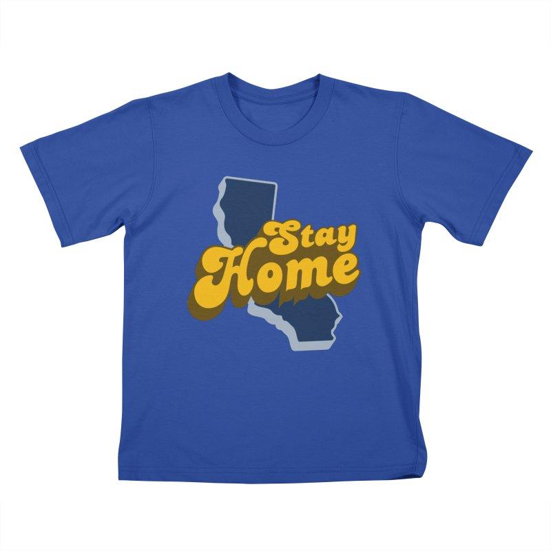 Stay Home, California Kids T-Shirt by Mike Hampton's T-Shirt Shop