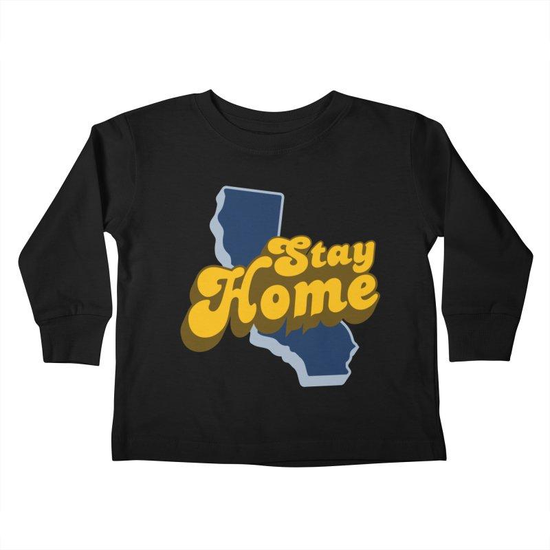 Stay Home, California Kids Toddler Longsleeve T-Shirt by Mike Hampton's T-Shirt Shop