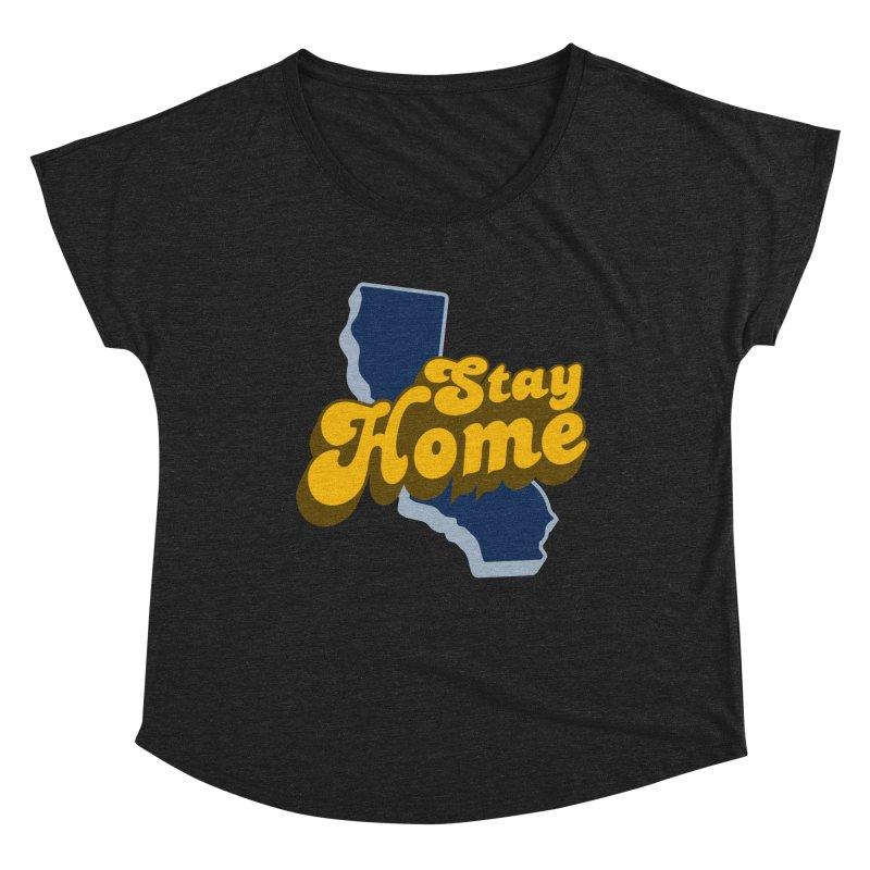 Stay Home, California Women's Dolman Scoop Neck by Mike Hampton's T-Shirt Shop