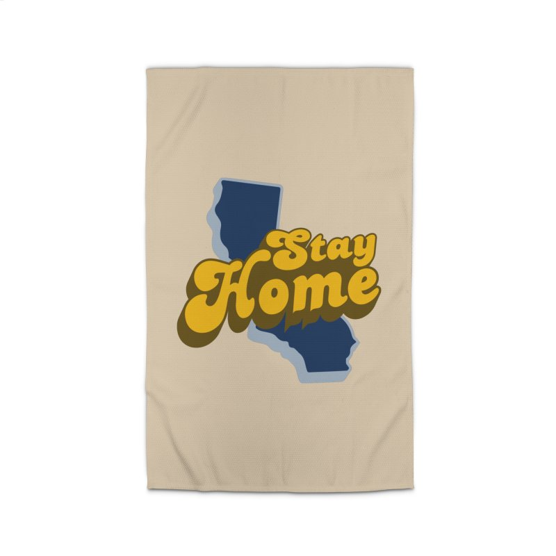 Stay Home, California Home Rug by Mike Hampton's T-Shirt Shop