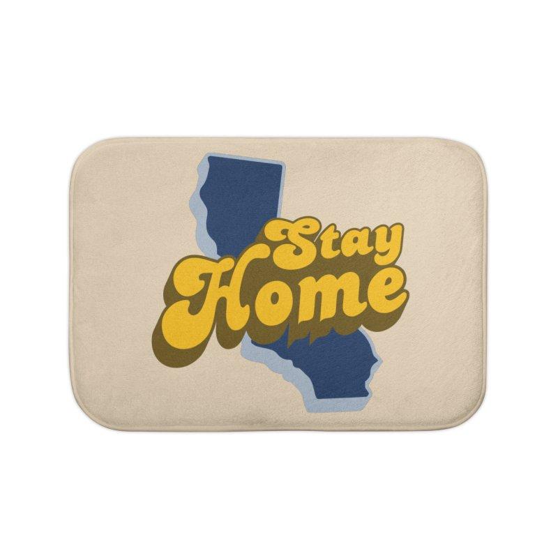 Stay Home, California Home Bath Mat by Mike Hampton's T-Shirt Shop
