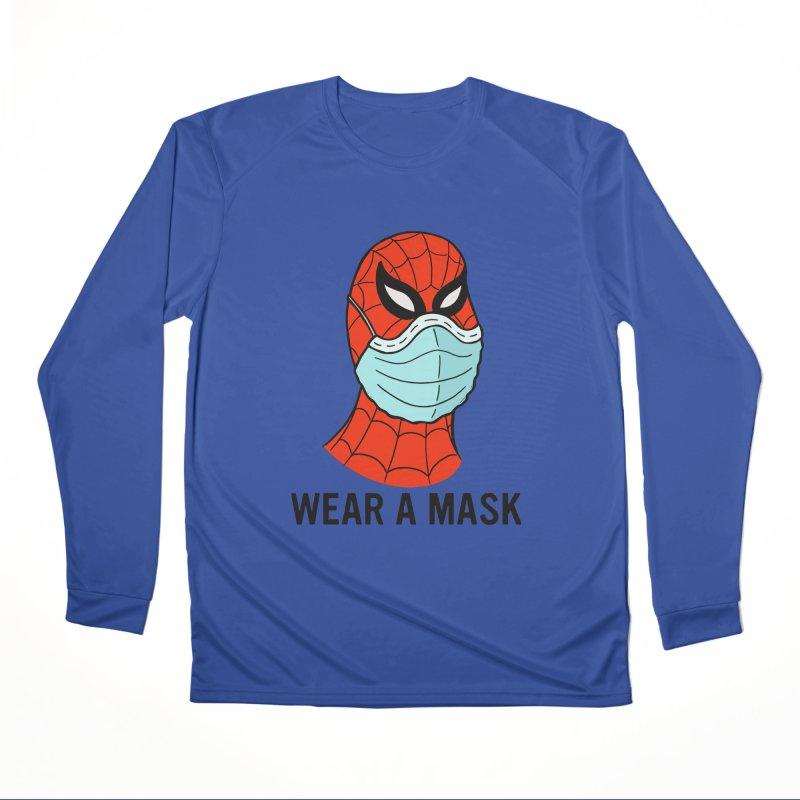 Wear a Mask Men's Performance Longsleeve T-Shirt by Mike Hampton's T-Shirt Shop