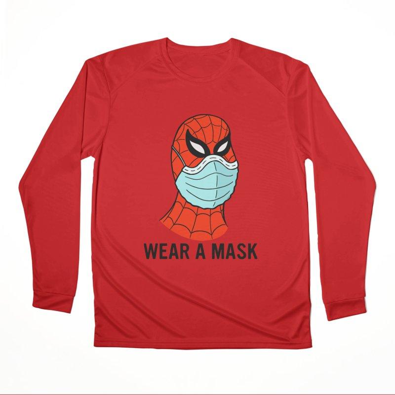 Wear a Mask Women's Performance Unisex Longsleeve T-Shirt by Mike Hampton's T-Shirt Shop