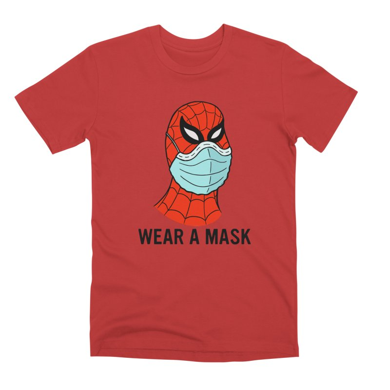 Wear a Mask Men's Premium T-Shirt by Mike Hampton's T-Shirt Shop