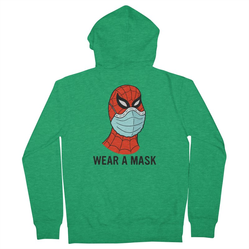 Wear a Mask Men's French Terry Zip-Up Hoody by Mike Hampton's T-Shirt Shop