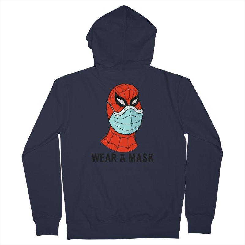 Wear a Mask Men's French Terry Zip-Up Hoody by Mike Hampton's T-Shirt Shop