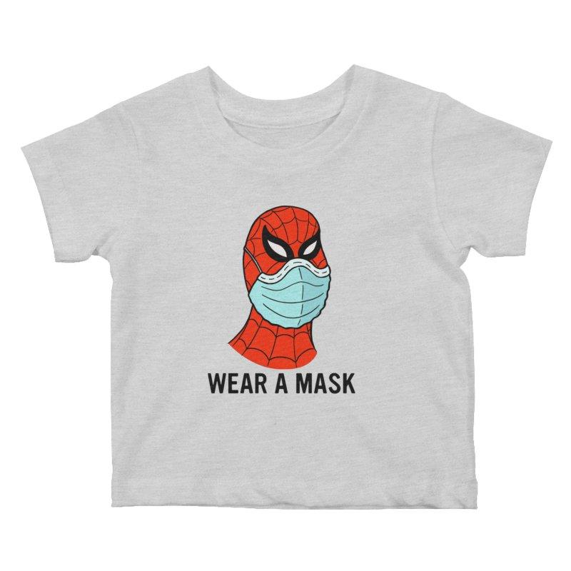 Wear a Mask Kids Baby T-Shirt by Mike Hampton's T-Shirt Shop