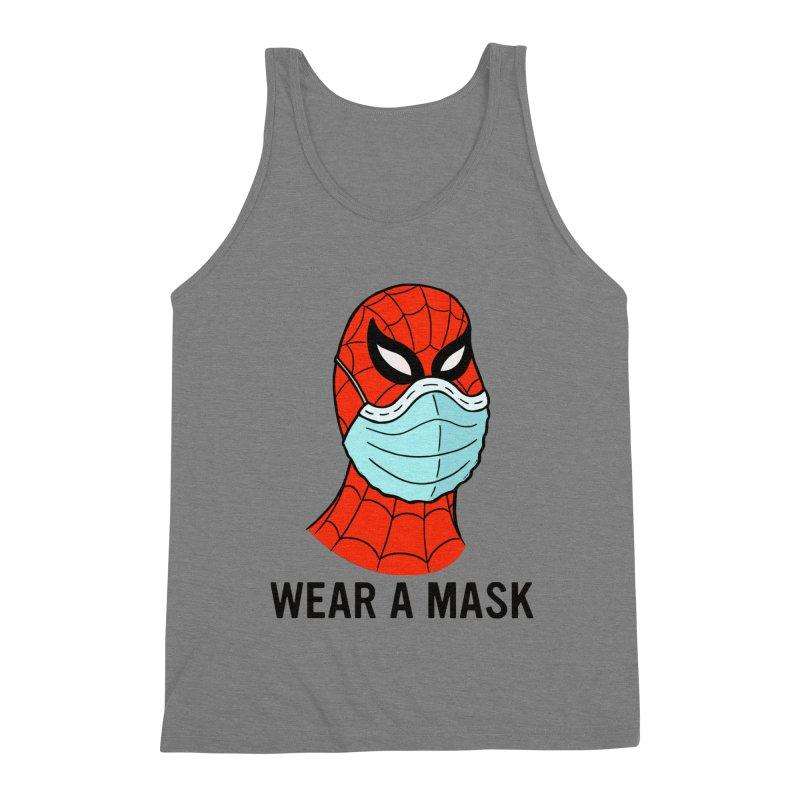 Wear a Mask Men's Triblend Tank by Mike Hampton's T-Shirt Shop