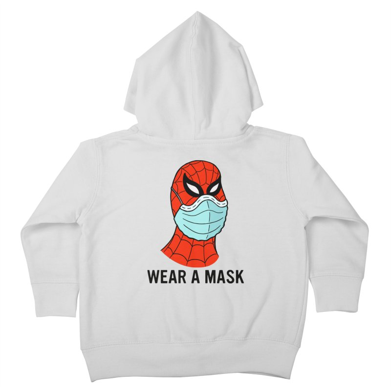 Wear a Mask Kids Toddler Zip-Up Hoody by Mike Hampton's T-Shirt Shop