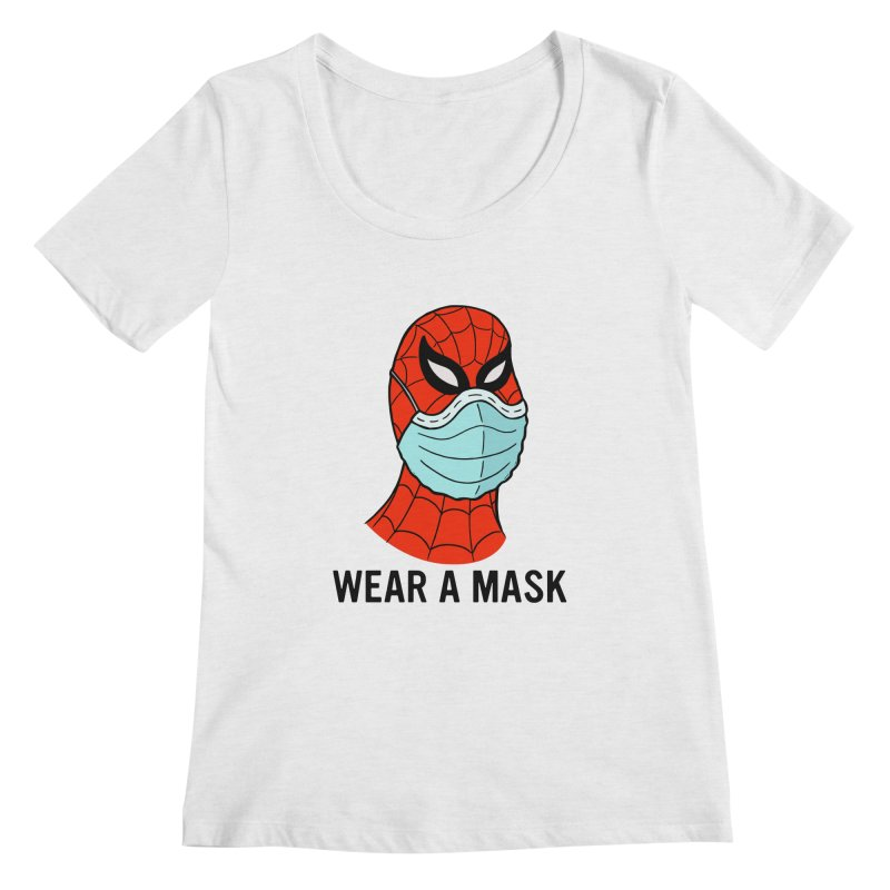 Wear a Mask Women's Regular Scoop Neck by Mike Hampton's T-Shirt Shop