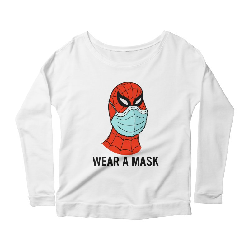 Wear a Mask Women's Scoop Neck Longsleeve T-Shirt by Mike Hampton's T-Shirt Shop