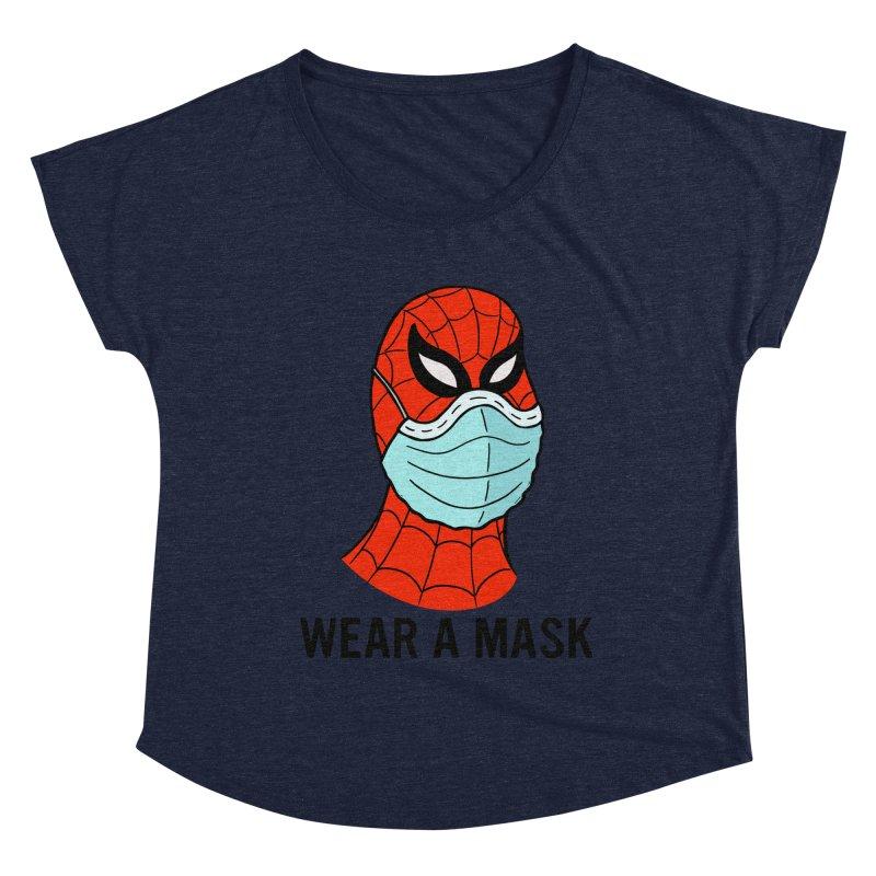 Wear a Mask Women's Dolman Scoop Neck by Mike Hampton's T-Shirt Shop