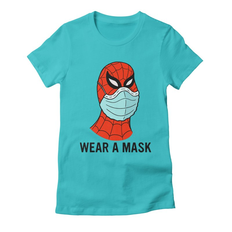 Wear a Mask Women's Fitted T-Shirt by Mike Hampton's T-Shirt Shop
