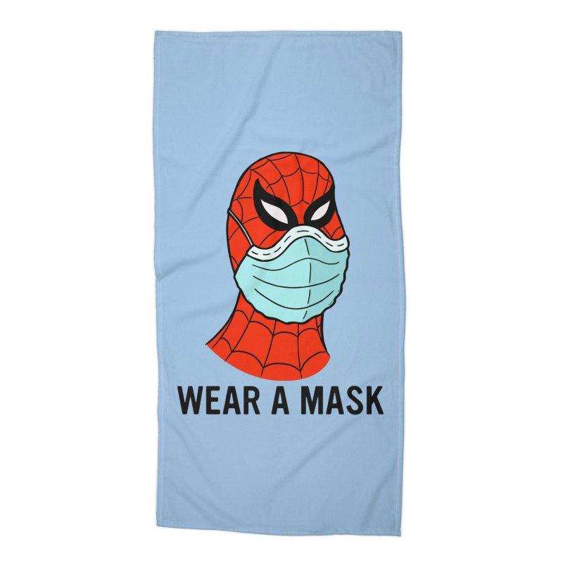 Wear a Mask Accessories Beach Towel by Mike Hampton's T-Shirt Shop