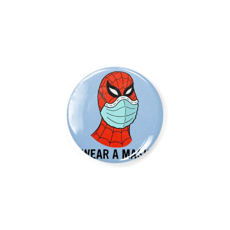Wear a Mask Accessories Button by Mike Hampton's T-Shirt Shop