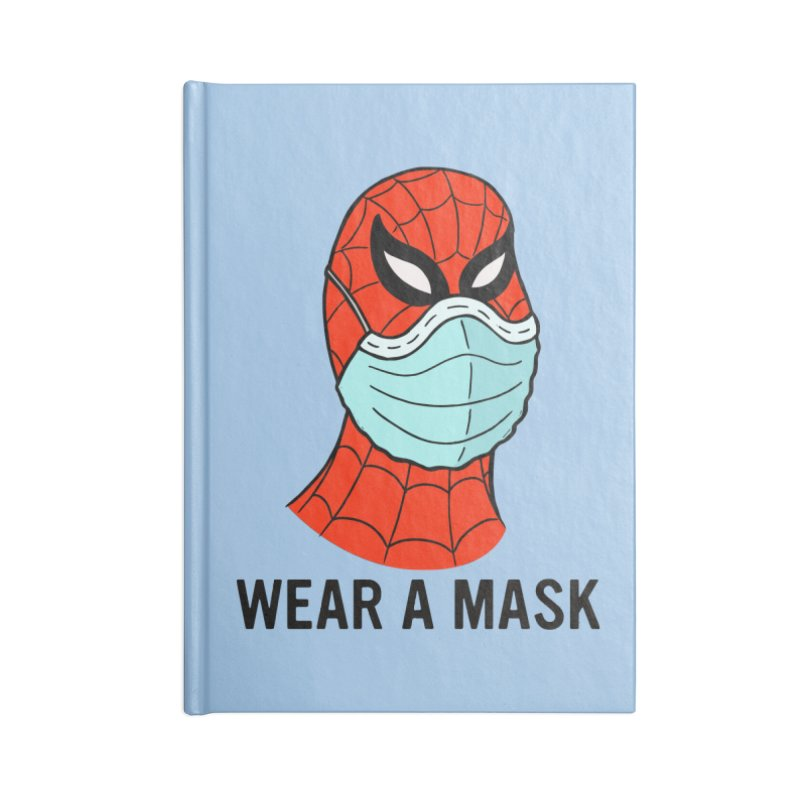 Wear a Mask Accessories Blank Journal Notebook by Mike Hampton's T-Shirt Shop