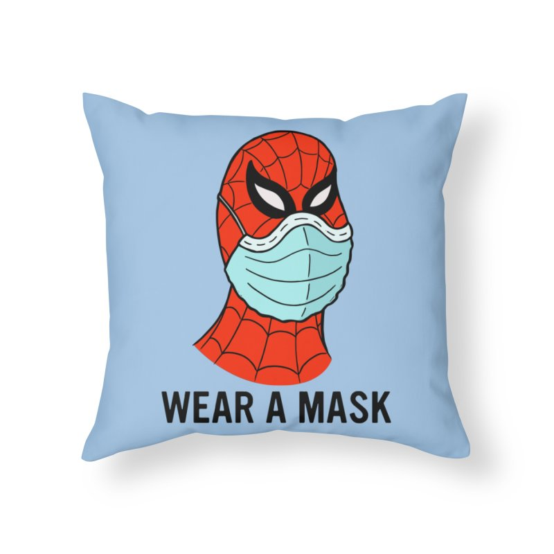 Wear a Mask Home Throw Pillow by Mike Hampton's T-Shirt Shop