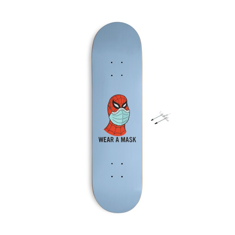 Wear a Mask Accessories With Hanging Hardware Skateboard by Mike Hampton's T-Shirt Shop