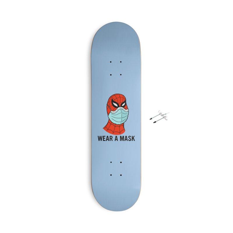 Wear a Mask Accessories Skateboard by Mike Hampton's T-Shirt Shop