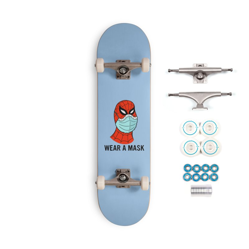 Wear a Mask Accessories Skateboard by Mike Hampton's T-Shirt Shop