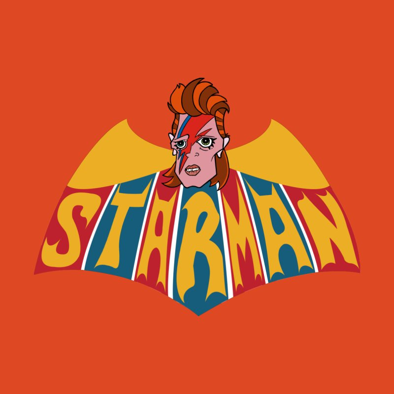 Starman Accessories Skateboard by Mike Hampton's T-Shirt Shop
