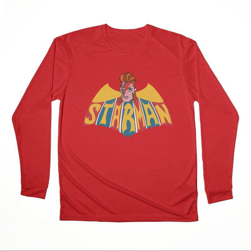 Starman Men's Performance Longsleeve T-Shirt by Mike Hampton's T-Shirt Shop