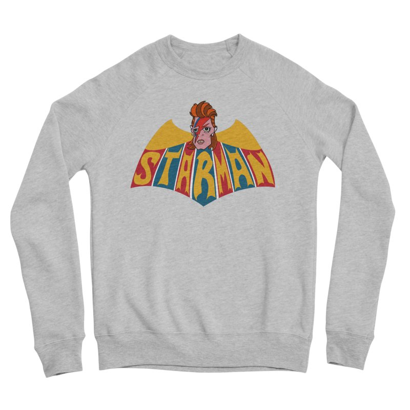 Starman Women's Sponge Fleece Sweatshirt by Mike Hampton's T-Shirt Shop