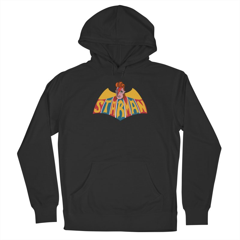 Starman Women's French Terry Pullover Hoody by Mike Hampton's T-Shirt Shop