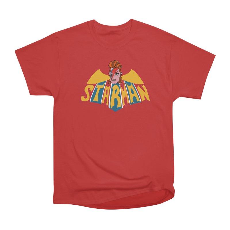 Starman Men's Heavyweight T-Shirt by Mike Hampton's T-Shirt Shop