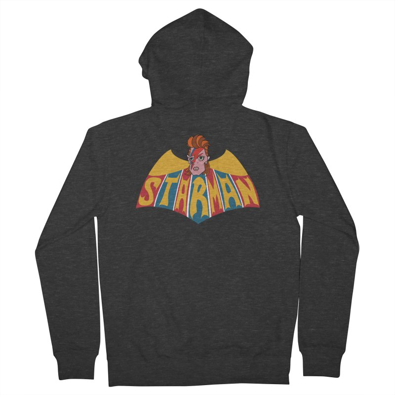 Starman Men's French Terry Zip-Up Hoody by Mike Hampton's T-Shirt Shop