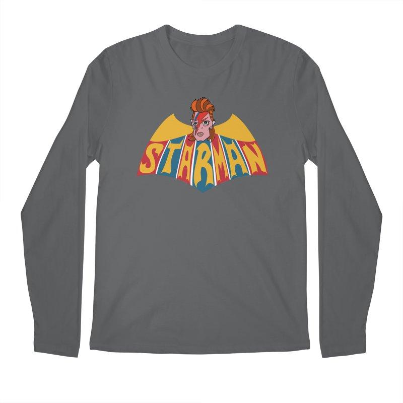 Starman Men's Regular Longsleeve T-Shirt by Mike Hampton's T-Shirt Shop
