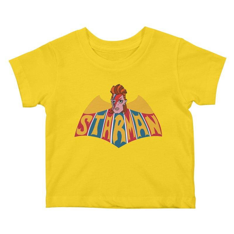 Starman Kids Baby T-Shirt by Mike Hampton's T-Shirt Shop