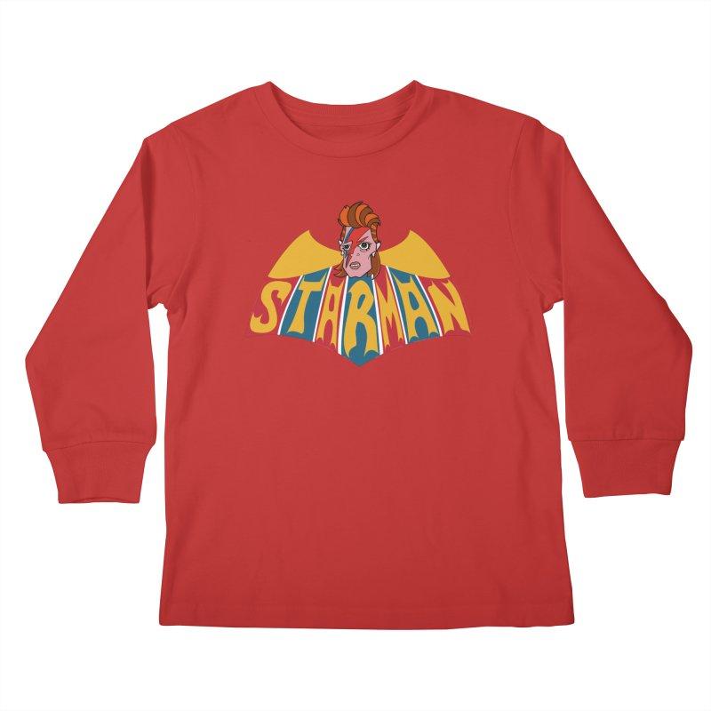 Starman Kids Longsleeve T-Shirt by Mike Hampton's T-Shirt Shop
