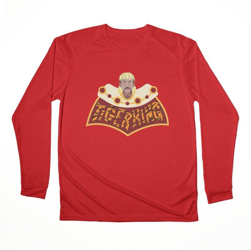 The Tiger King Men's Performance Longsleeve T-Shirt by Mike Hampton's T-Shirt Shop
