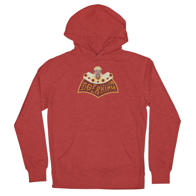The Tiger King Men's French Terry Pullover Hoody by Mike Hampton's T-Shirt Shop