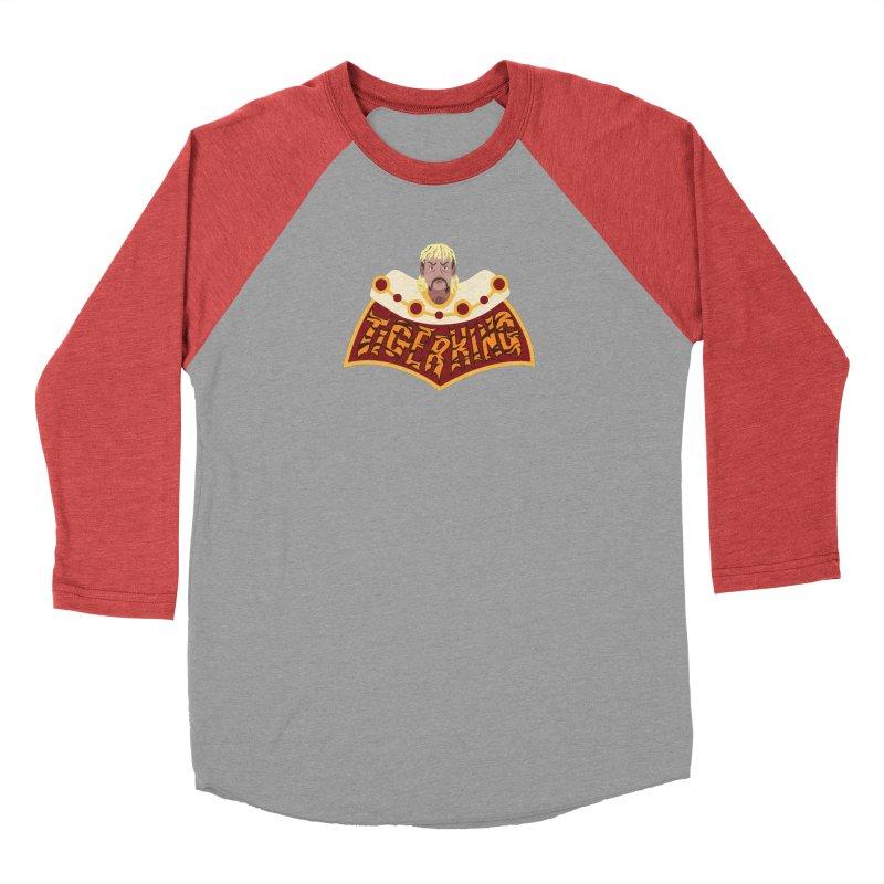 The Tiger King Women's Baseball Triblend Longsleeve T-Shirt by Mike Hampton's T-Shirt Shop