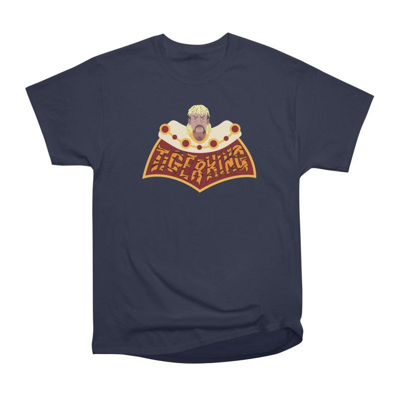 The Tiger King Men's Heavyweight T-Shirt by Mike Hampton's T-Shirt Shop