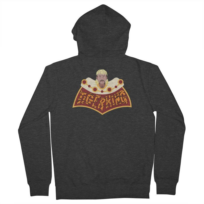 The Tiger King Men's French Terry Zip-Up Hoody by Mike Hampton's T-Shirt Shop