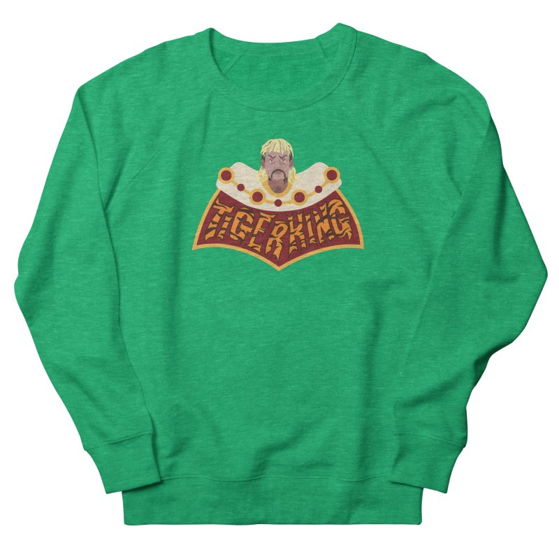 The Tiger King Men's French Terry Sweatshirt by Mike Hampton's T-Shirt Shop