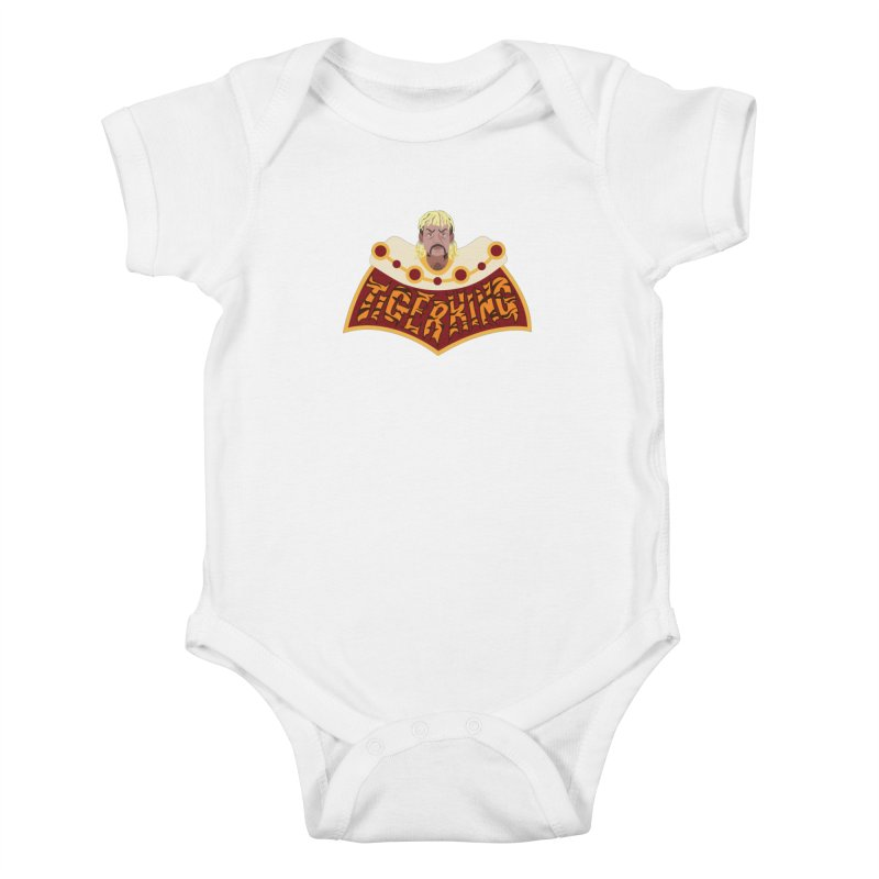 The Tiger King Kids Baby Bodysuit by Mike Hampton's T-Shirt Shop