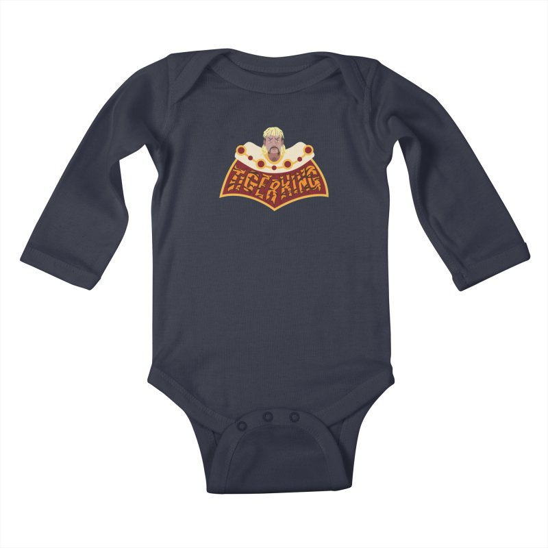 The Tiger King Kids Baby Longsleeve Bodysuit by Mike Hampton's T-Shirt Shop