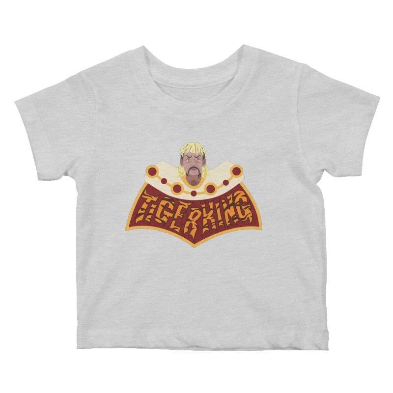 The Tiger King Kids Baby T-Shirt by Mike Hampton's T-Shirt Shop